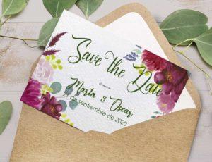 Tarjeta personalizada Save the Date
